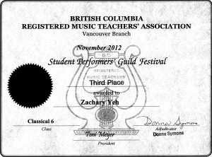 festival certificate 11