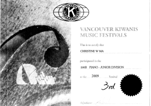 festival certificate 15