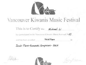 festival certificate 18