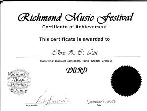 festival certificate 20