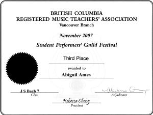 festival certificate 21
