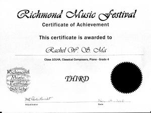 festival certificate 22
