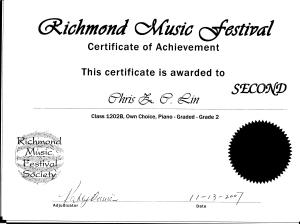 festival certificate 9