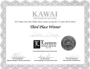 festival certificate