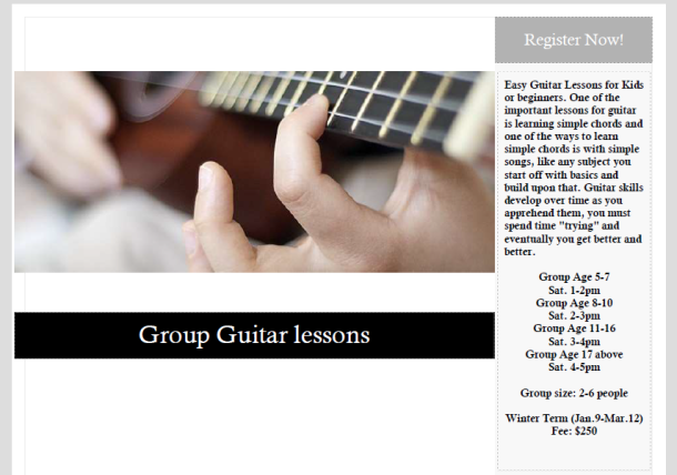Group Guitar