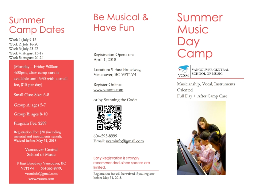 Summer Camp Brochure 2018